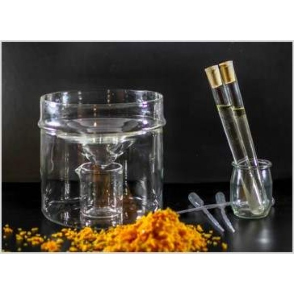 Flacon ambré en verre (2 flacons de 10 ml)