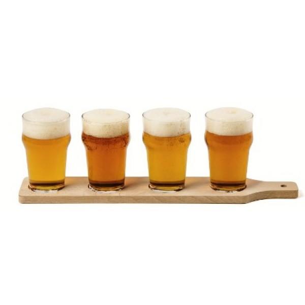 Planche à bières en hêtre, 4 empreintes (x 3)