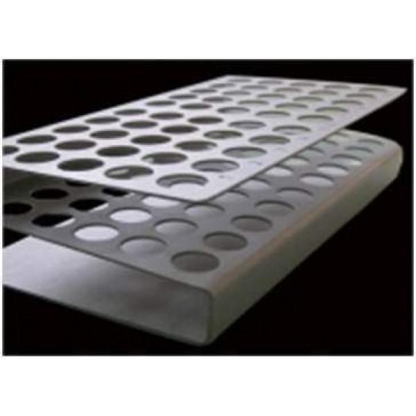 Support en aluminium pour 50 tubes cuisine 7 ml ou 15 ml