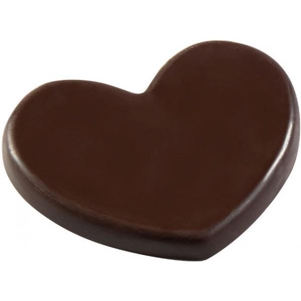 Moule à chocolat, palet coeur 15 empreintes 3.9 X 3.6 cm