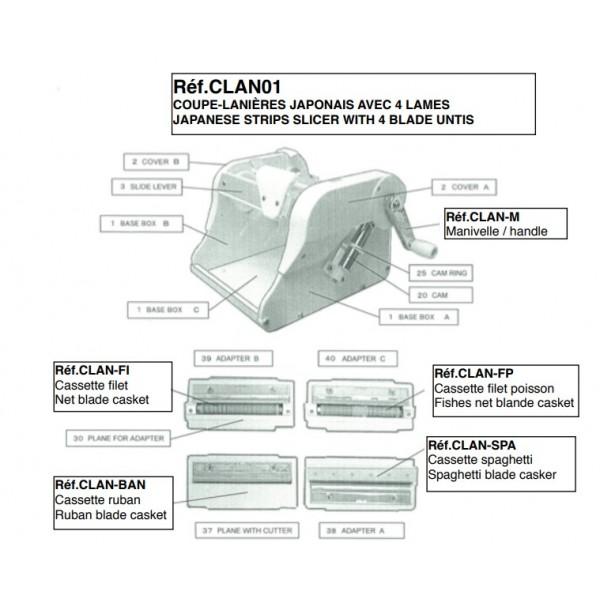 Cassette ruban CLAN-BAN, pour coupe lanière CLAN01 (x 1)
