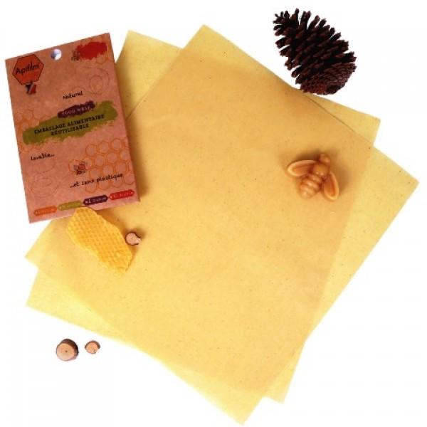 ApiFilm, emballage alimentaire naturel (Lot de 2 tissus XL 36 x 50 cm)