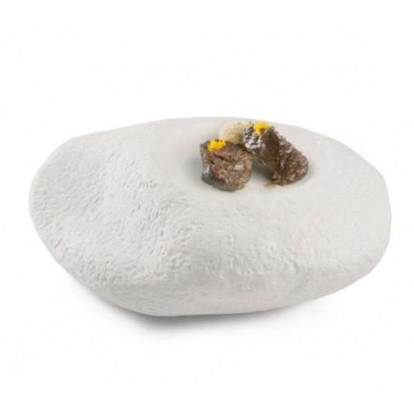 Assiette porcelaine 100% Chef, Big Rock 22 x 19 cm (x 1)