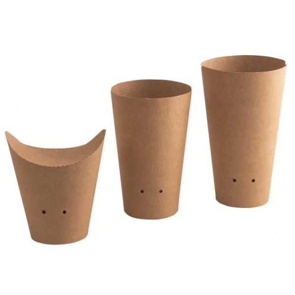 Pot en carton brun, couvercle prédecoupé  35 cl (x 1000)