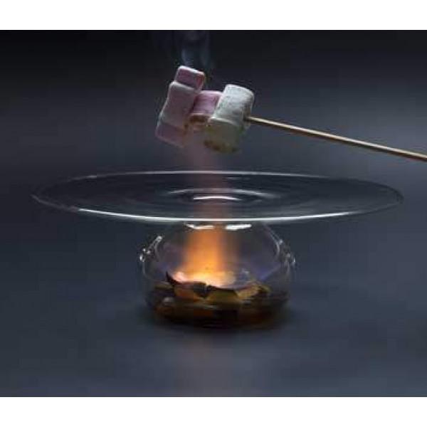 Assiette en verre 100% Chef, Vulcano Ø 23 cm